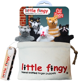 Cat Finger Puppets Gift Bag Set
