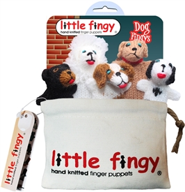 Dog Finger Puppets Gift Bag Set