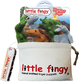 Dinosaur Finger Puppets Gift Bag Set