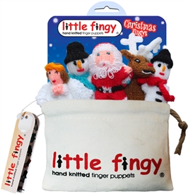 Christmas Finger Puppets Gift Bag Set