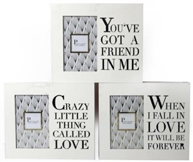 White Wood Photo Frame - 3 Assorted
