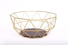 Gold Wire Bowl 26cm