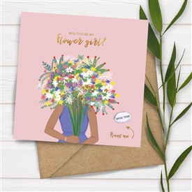 Card With Magic Growing Bean - Be My Flower Girl