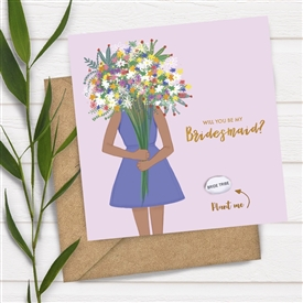 Card With Magic Growing Bean - Be My Bridesmaid