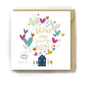 Card With Magic Growing Bean � Sparkly New Home