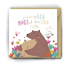 Card With Magic Growing Bean � Big Hugs Sad Time