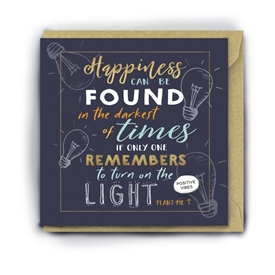 Card With Magic Growing Bean � Happiness In Dark Places