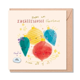Card With Magic Growing Bean � Christmas Bauble