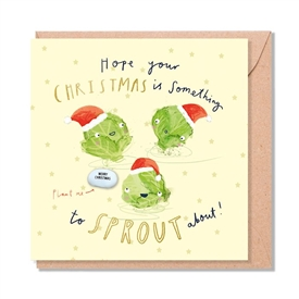Card With Magic Growing Bean � Sprouts