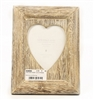 Lime Wash Heart Photo Frame 21.5cm