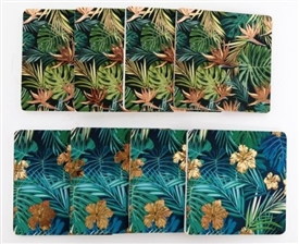 Set OF 4 Tropical Leaf Coasters 2 Assorted 10cm