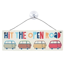 Hit The Open Road Window Sign 21cm