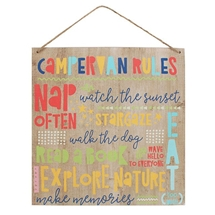 Campervan Rules Sign 39cm