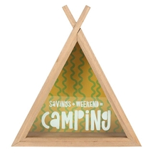 Camping Fund Teepee Money Box 22cm