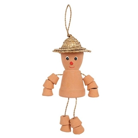 Terracotta Pot Man 25cm