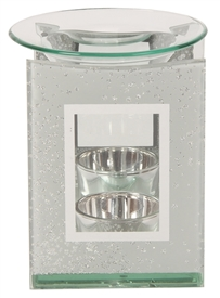 Grey Glitter Oil Burner