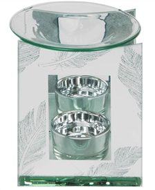 Silver Feather Oil Burner