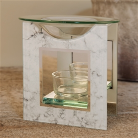 Hestia White Marble Oil Burner