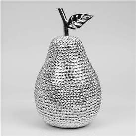 Hestia Diamante Pear Ornament 18cm