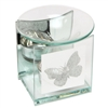Glitter Butterfly Glass Wax Melter / Oil Burner 12cm