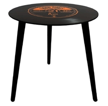 40cm Retro Record Table - Orange