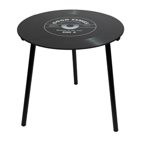 40cm Retro Record Table - Black