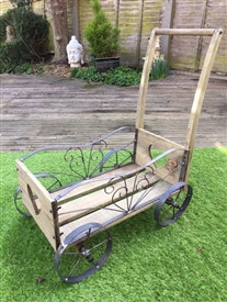 REDUCED, LIMITED TIME ONLY<p>Wooden Cart Planter - 70cm