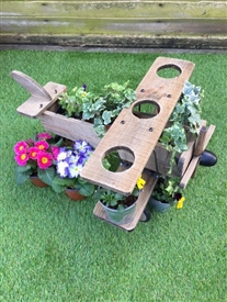 REDUCED, LIMITED TIME ONLY<p>Wooden Plane Planter - 56cm