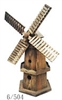 REDUCED Wooden Windmill Garden Ornament - 58cm