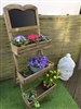 REDUCED, LIMITED TIME ONLY<p>3 Tier Chalkboard Display Planter - 109cm