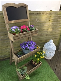 3 Tier Chalkboard Display Planter - 109cm