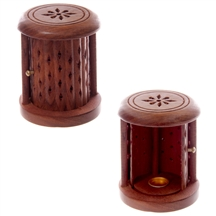 Barrel Incense Cone Burner With Door