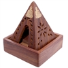 Pyramid Incense Burner with Buddha