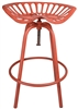 Red Metal Tractor Seat Stool