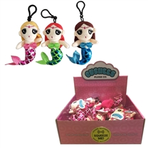REDUCED Plush Mermaid Keyring With Sounds 3 Assorted
