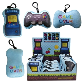 Plush Game Over Keyring With Sound 2 Assorted