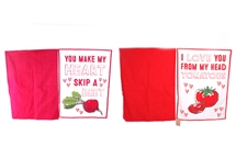 Set Of 2 Sweet Cooking Phrases Tea Towels - 2 Assorted