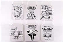 Animal Saying Plaque 6 Assorted 14.5cm
