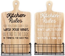 Kitchen Rules Storage Rack 50cm 2 Assorted