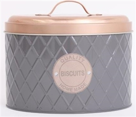 Grey Biscuit Tin 19cm
