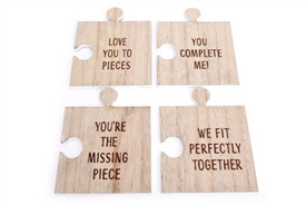 Set Of 4 Puzzle Coasters