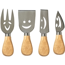 Smiley Cheese Knife Set/4