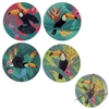 Cork Toucan Party Coasters Set of 4
