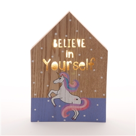 Believe In Yourself LED Plaque 25cm