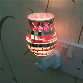 Plug-In Glass Mosaic Warmer - Pink Abstract