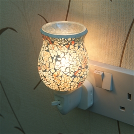 Plug-In Glass Mosaic Warmer - Golden Glow