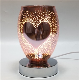 Touch Sensitive 3D Heart Aroma Lamp