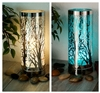 Colour Changing LED Aroma Lamp - Silver Tree