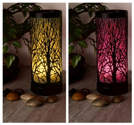 Colour Changing LED Aroma Lamp - Black Tree