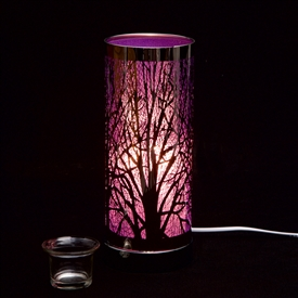 Purple And Silver Aroma Lamp 26cm